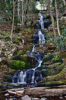Buttermilk Falls All 200 Feet Print by Paul Ward