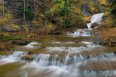 Buttermilk Falls Art Print by Dean Hueber