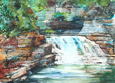 Buttermilk Falls II Art Print by Patricia Allingham Carlson