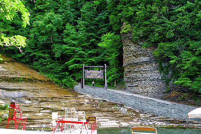 Buttermilk Falls State Park New York 01 Art Print by Thomas Woolworth