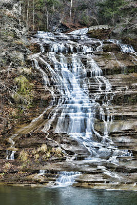 Buttermilk Falls Print by Stephen Stookey