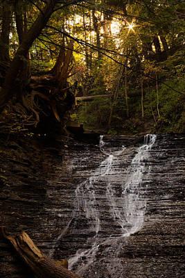 Buttermilk Falls Photograph - Buttermilk Falls Sunset by J Allen