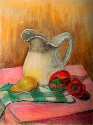 Painting - Buttermilk Pitcher by Shirley Lawing