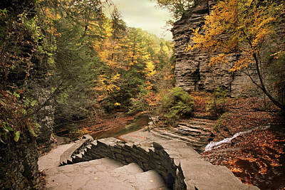 Buttermilk Falls Photograph - Buttermilk Upper Falls by Jessica Jenney
