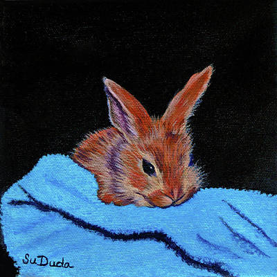 Painting - Butterscotch Bunny by Susan Duda
