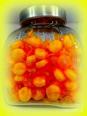 Digital Art - Butterscotch Buttons by Ed Weidman