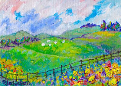 Painting - Butterup Ridge By Peggy Johnson by Peggy Johnson
