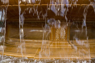 Photograph - Buttery Golden Marble Through Ripping Water Curtains - Take Two by Georgia Mizuleva
