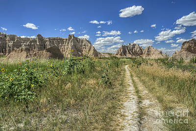 Photograph - Buttes Of The Badlands by Scott Wood