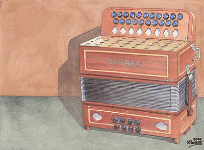 Painting - Button Accordion Three by Ken Powers