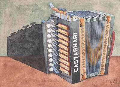 Painting - Button Accordion Two by Ken Powers