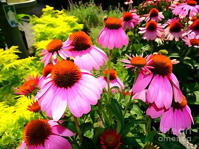 Digital Art - Button Blooms by Ed Weidman