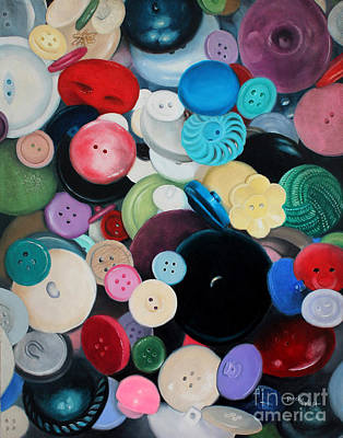 Painting - Button, Button... by Becky West