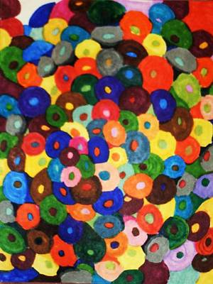 Button Buttons Whose Got The Buttone One Art Print by Brenda Adams