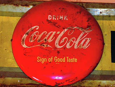 Photograph - Button Coke Sign by David Lee Thompson