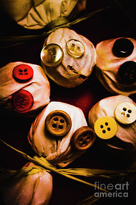 Frightening Photograph - Button Sack Lollypop Monsters by Jorgo Photography - Wall Art Gallery