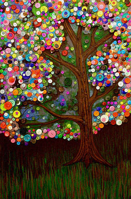 Button Tree 0007 Art Print by Monica Furlow