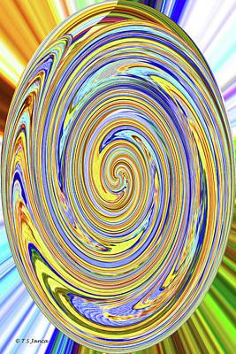 Digital Art - Buttons Abstract 8875- 2-12 by Tom Janca