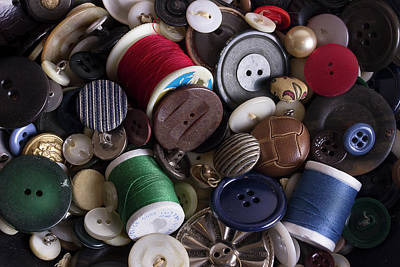 Photograph - Buttons And Bobbins by Mike Eingle