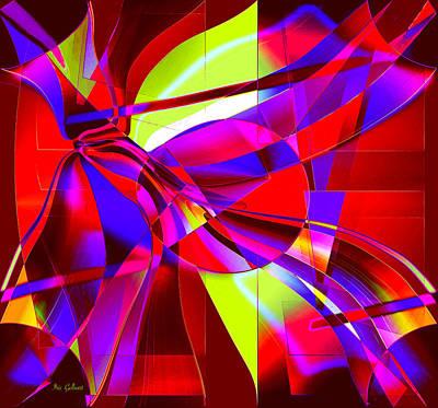 Digital Art - Buttons And Bows by Iris Gelbart