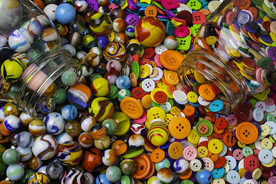 Photograph - Buttons And Marbles by Garry Gay