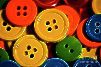 Photograph - Buttons by Linda Blair