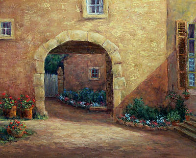 Painting - Buxy Archway by Jill Musser