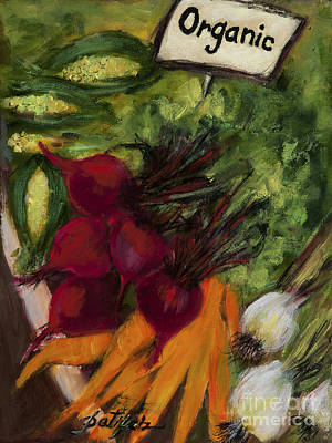 Painting - Buy Fresh Organic Produce by Pati Pelz
