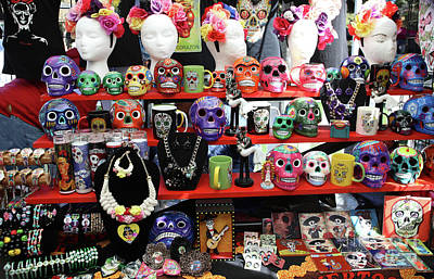 Dia De Los Muertos Photograph - Buy From Me Day Of The Dead  by Chuck Kuhn