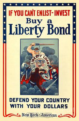 War Bonds Photograph - Buy Liberty Bonds by Jon Neidert