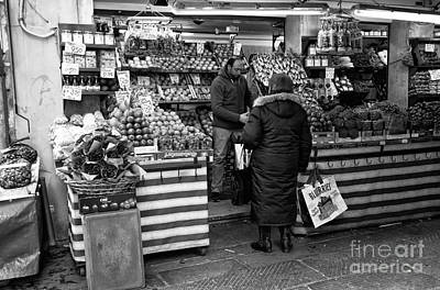 Photograph - Buying Fruit In Venice by John Rizzuto