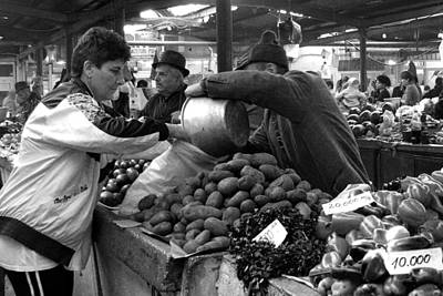 Photograph - Buying Potatoes by Judi Saunders