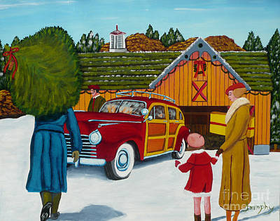 Painting - Buying The Tree by Anthony Dunphy