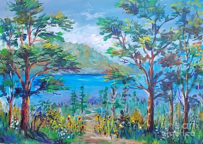 Painting - Buyuk Ada Landscape by Lou Ann Bagnall