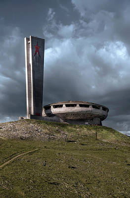 Photograph - Buzludzha Monument In Bulgaria by Jaroslaw Blaminsky