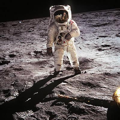Photograph - Buzz Aldrin Apollo 11 1969 by Nasa Presented by Joy of Life Art