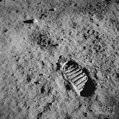 Aldrin Photograph - Buzz Aldrins Moon Footprint by Nasa