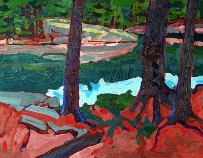 Buzzard Painting - Buzzard Island Pines by Phil Chadwick