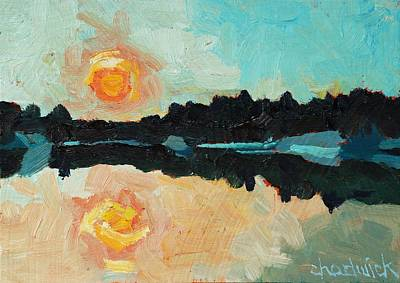 Buzzard Painting - Buzzard Lake Dawn by Phil Chadwick
