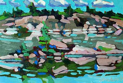 Buzzard Painting - Buzzard Lake West Shore by Phil Chadwick
