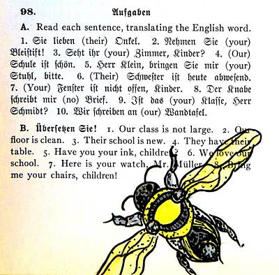 Bumblebee Drawing - Buzzing Bee by Kelly Basinger
