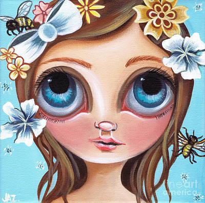 Buzzing Blossom Art Print by Jaz Higgins