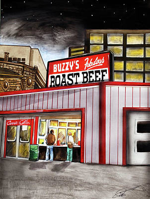 Buzzy's Fabulous Roast Beef Art Print by Dave Olsen