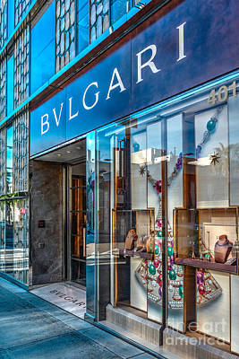 Bvlgari Beverly Hills Art Print by David Zanzinger