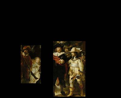 Digital Art - Bw 1 Rembrandt by David Bridburg