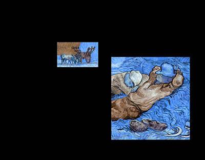 Bw 3 Van Gogh Art Print by David Bridburg