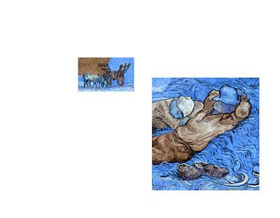 Bw 4 Van Gogh Art Print by David Bridburg