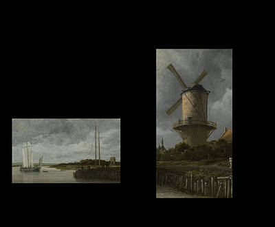 Digital Art - Bw 7 Van Ruisdael  by David Bridburg