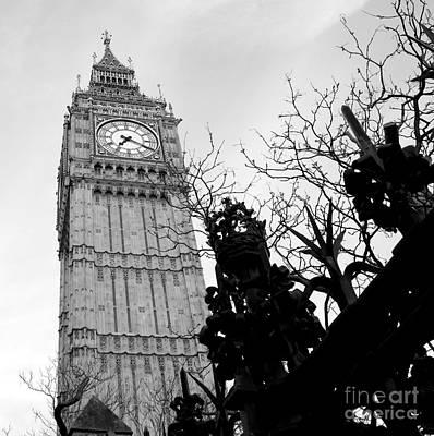 Photograph - Bw Big Ben London 2 by Lexa Harpell