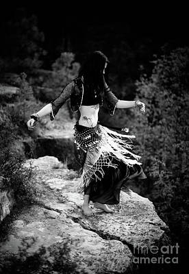 Photograph - Bw Cliff Belly Dance by Scott Sawyer